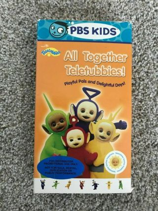 Rare Promotional All Together Teletubbies Pbs Kids Vhs Video Canada Version