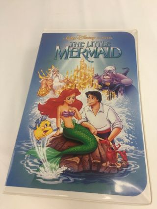 The Little Mermaid Rare Banned Penis Cover Vhs Disney Black Diamond Classics