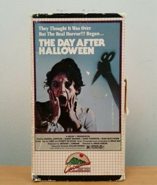 The Day After Halloween Vhs Rare Horror Catalina Night Snapshot Insane