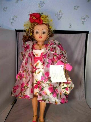 "Rare 21 "" Madame Alexander Tea Rose Ltd Ed Portrait Doll Stand & Box 2223"