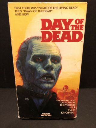 Day Of The Dead Rare Oop Horror Media Home Video Release Vhs Ntsc Htf