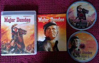 Major Dundee Limited Edition 2 - Disc Blu - Ray Set Oop Rare 2013 Twilight Time