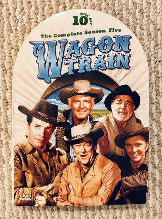Wagon Train The Complete 5th Season 5 Five 10 Disc Set Over 30 Hours Oop Rare