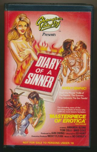 Diary Of A Sinner Ultra - Obscure Trashy Sleaze Wild Large Clamshell Pal Vhs Rare