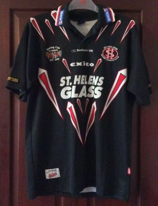 Vintage Rare St Helens Away Rugby League Shirt 2001.  Size Med.