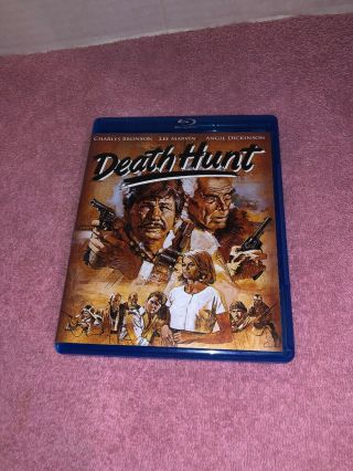Death Hunt (blu - Ray Disc,  2013) Rare Out Of Print Oop Blu - Ray Dvd