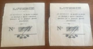 2 Rare Antique Lottery Tickets For Shipwreck Victims The French Line Cruise Ship