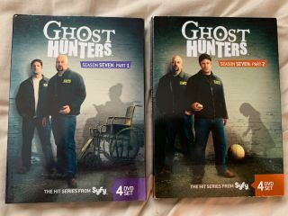 Ghost Hunters: Season Seven (7) : Part 1 & 2 Very Rare 8 Disc Set Vg W Slipcovers
