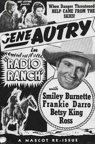Rare 16mm Feature: Radio Ranch (gene Autry / Smiley Burnette) Western Sci - Fi