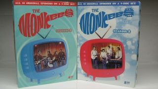 The Monkees Season 1 And 2 11 Dvd Complete Set Rhino Release Rare Oop 1 - Owner