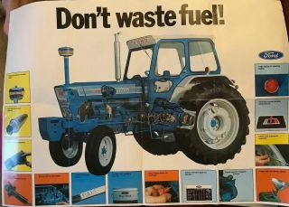 Ford 7000 Tractor Sales Brochure/poster 80