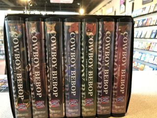 Cowboy Bebop Collectors Box Set 1 — Vhs Set Rare (7 Vhs Tapes In All)