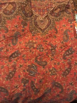 Extremely Rare Ralph Lauren Equestrian Paisley Duvet Cover