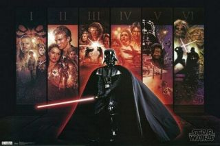 Star Wars Poster Collage Rare Hot 24x36 - Vw0