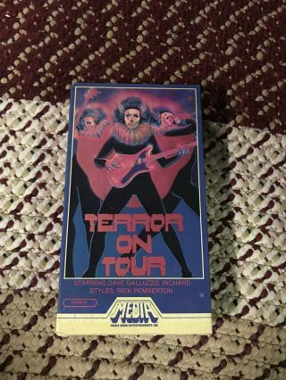 Terror On Tour Media Horror Sov Slasher Rare Oop Vhs Big Box Slip