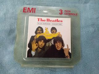 The Beatles Yellow Submarine Rare 1989 3 Inch Cd In Emi Plastic Wrap