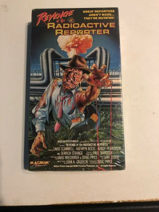 Revenge Of The Radioactive Reporter Vhs Magnum Oop Zombies Rare