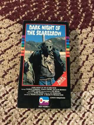Dark Night Of The Scarecrow Key Horror Sov Slasher Rare Oop Vhs Big Box Slip