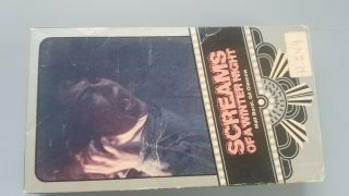 Screams Of A Winters Night Rare Vhs