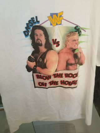 Wwf Wwe T - Shirt In Your House May 14th 1995 Rare Diesel Vs Sid