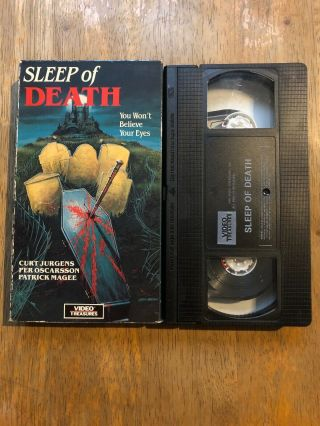 Sleep Of Death (1985 Vhs) Rare Oop Horror Screened And Plays Great