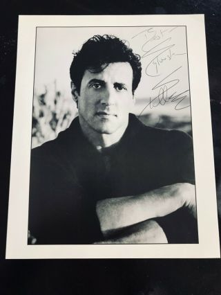 Rare Sylvester Stallone 1997 Signed Autographed 8x10 Rocky Rambo The Expendables