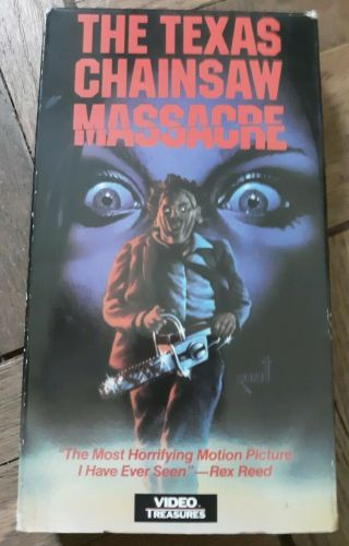 The Texas Chainsaw Massacre 1974 Oop Vhs Video Treasures Rare Horror Slasher