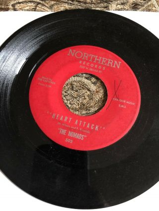 Rare Northern Soul 45 The Nomads Heart Attack You're The Only One On Northern