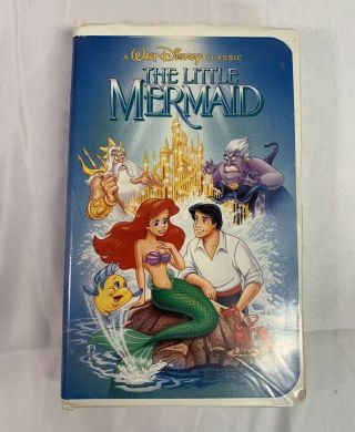 The Little Mermaid (vhs,  1990) Rare Black Diamond Edition Recalled Cover Art