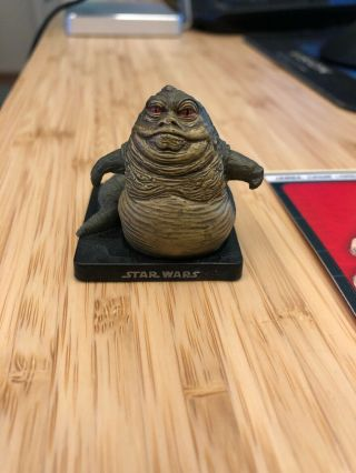 Star Wars Miniatures Very Rare Jabba The Hutt Crime Lord 46/60 A&e W/card