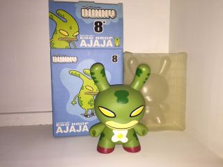 "Egg Drop Ajaja Green David Horvath 8 "" Dunny Kidrobot Rare Limited Edition"