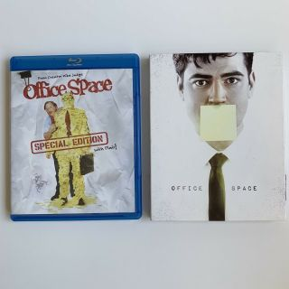 Office Space Blu - Ray W/rare Fox Icons Slipcover Special Edition With Flair