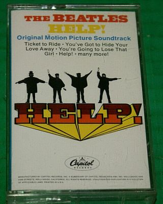 The Beatles Help Cassette Tape 1988 Hx Pro Reissue Rare Htf Out Of Print