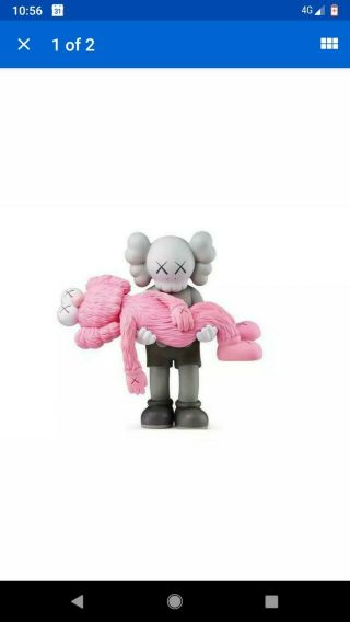 Pink Kaws Gone Companion Bff Vinyl Figure Limited Edition Ngv