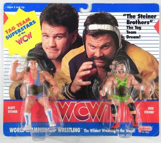 Galoob Toys Wcw The Steiner Brothers Tag Team Wrestling Set Uk Release Moc