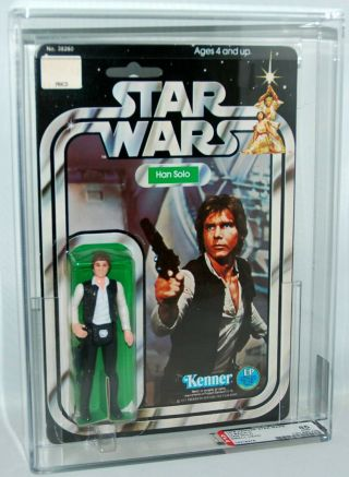 1978 Kenner Star Wars 12 Back C Han Solo Small Head Afa 85 85/85/85 Clear Bubble