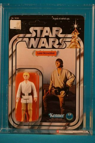 Star Wars Afa 80 Luke Skywalker Blonde Hair 12 Back A - Vintage Moc Carded - B