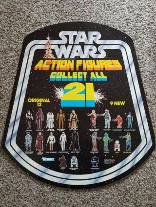 "Star Wars "" Collect All 21 "" Bell - Shaped Advertisement 1978 - Kenner Store Display"