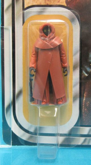 1978 Kenner Star Wars 12 Back - A Jawa Vinyl Cape AFA Graded 80 NM Unpunched Card 2