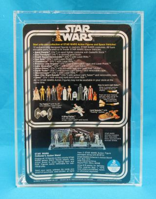 1978 Kenner Star Wars 12 Back - A Jawa Vinyl Cape AFA Graded 80 NM Unpunched Card 6