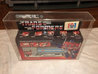 Transformers Optimus Prime G1 Pepsi Edition Afa 80