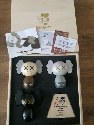 Kaws - Holiday - Japan - Limited - Kokeshi - Doll - Set - Set - Of - 3