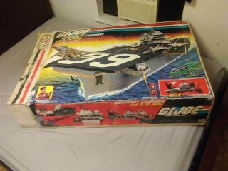 1985 GI Joe USS Flagg Aircraft Carrier Hasbro 100 Complete W/Sealed Accessories 12