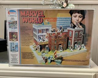 Amsco Marvel World Playset Unplayed/unpunched