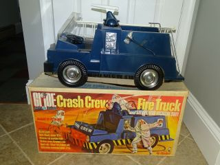 G.  I.  Joe Crash Crew Fire Truck Box Hasbro