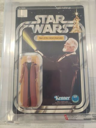 1978 Kenner Star Wars 12 Back - C Ben Obi - Wan Kenobi White Hair Afa 85 Unpunched
