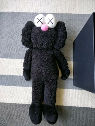 Authentic Kaws Black Bff Plush Edition Of 3000,  W Moma Receipt Pink Nose