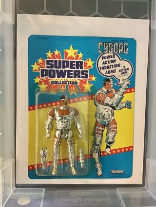 Kenner Powers Cyborg,  23 Picture,  Never Punched,  Never Opened Year 1985