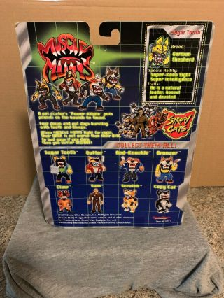 1997 Street Wise Designs Muscle Mutts SUGAR TOOTH Figure RARE Street Sharks 4