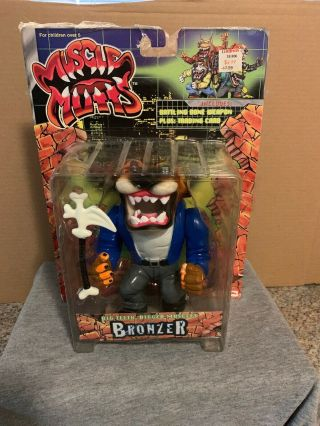 1997 Street Wise Designs Muscle Mutts Red - Knuckle Error Street Sharks Rare